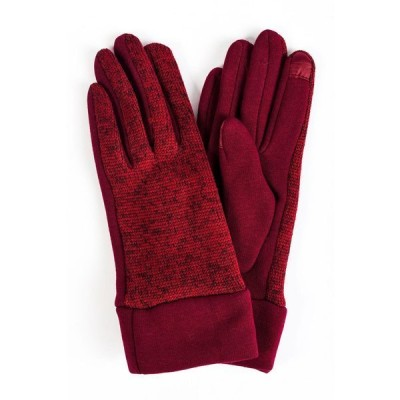 マーカスアドレール 手袋 アクセサリー レディース Women's Marled Knit Jersey Touchscreen Glove Burgundy