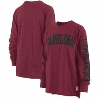 Pressbox プレス ボックス スポーツ用品  Pressbox South Carolina Gamecocks Womens Garnet Two-Hit Canyon Long Sleeve T-Shirt