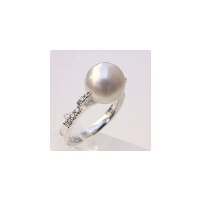 パール リング パールリング 指輪 ブライダル リング パール 南洋真珠パール PT900プラチナリング ダイヤモンド 冠婚葬祭 普段使い