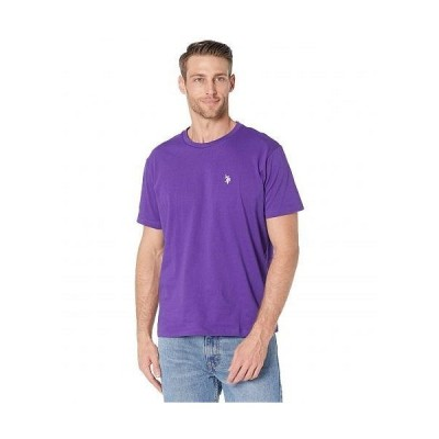 U.S. POLO ASSN. USポロ メンズ 男性用 ファッション Tシャツ Crew Neck Small Pony T-Shirt - Purple Prince