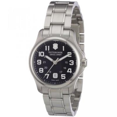 ビクトリノックス 腕時計 レディースウォッチ Victorinox Swiss Army Women's SWISSA-241456 Officer's XS Black Stainless Steel Watch