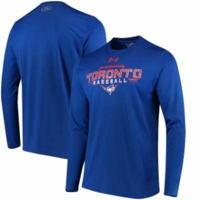 Under Armour アンダー アーマー スポーツ用品  Under Armour Toronto Blue Jays Royal Tech Long Sleeve T-Shirt