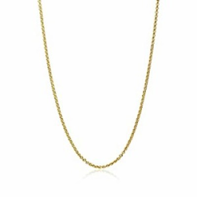 GemStar USA Yellow Gold Flashed Sterling Silver 1mm Thin Cable Rolo Chain Necklace, 16 Inches