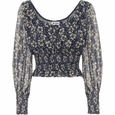 リキソ Rixo レディース ブラウス・シャツ トップス Cheryl floral silk blouse Wallpaper Floral