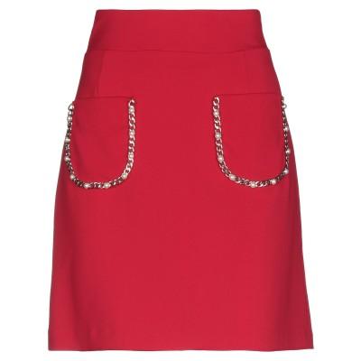 GLAM CRISTINAEFFE ひざ丈スカート レッド 42 ポリエステル 98% / ポリウレタン 2% ひざ丈スカート