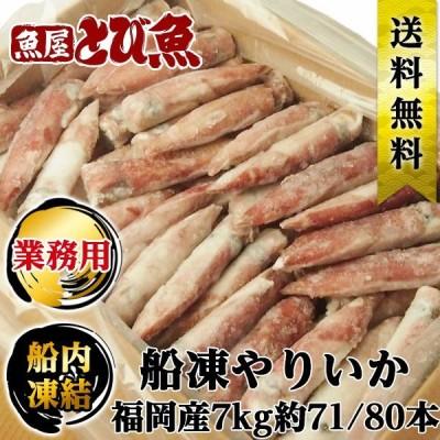 船凍 やりいか 赤イカ 7kg約71/80本 福岡産 業務用 送料無料