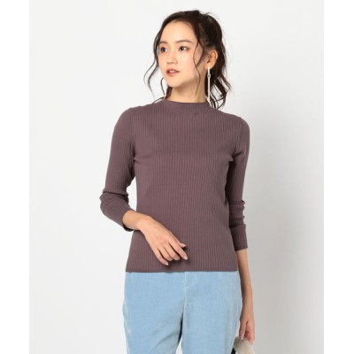 NOLLEY'S / ワイドリブ釦付プルオーバーニット WOMEN トップス > ニット/セーター