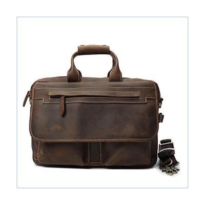 PBQWER Retro First Layer Cowhide Handbag Shoulder Messenger Bag Casual Leather Men's Bag Briefcase Computer Bag,B並行輸入品