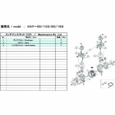 トラスコ中山 tr-1486861 ULVAC DAP-6D/12S用メンテナンスキット (tr1486861)