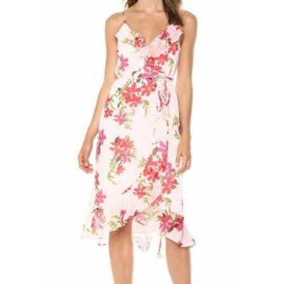 GUESS ゲス ファッション ドレス Guess NEW Pink Womens Size XL Floral Sleeveless Daydream Wrap Dress