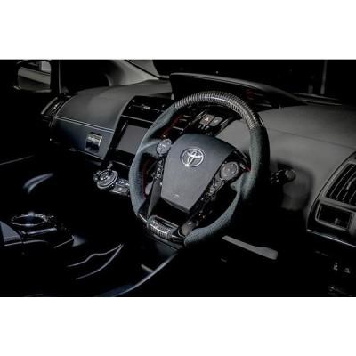 ROWEN トヨタ プリウス ZVW30系 レーシングステアリング CARBON+ウルトラスェード