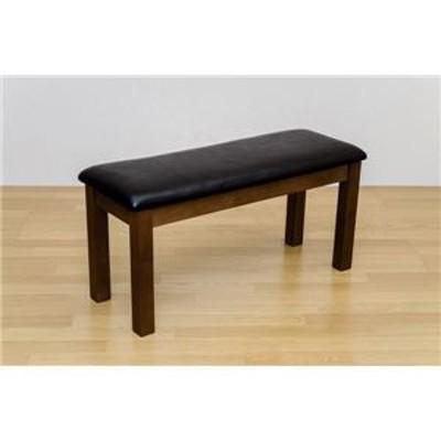 NEWダイニングベンチ(ダイニングチェア) 幅90cm 木製(天然木)/合成皮革 ブラウン【代引不可】