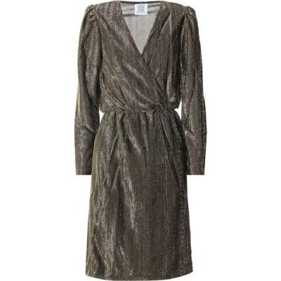 ヴェトモン Vetements レディース パーティードレス ラップドレス ワンピース・ドレス metallic wrap dress Gold