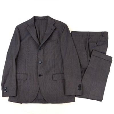 ラルディーニ 3Bウールシングルスーツ メンズ グレー系 52/50 セットアップ ジャケット スラックス イタリア製 LARDINI【I3-16350】