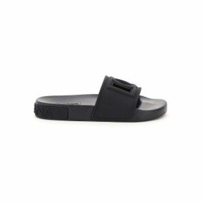 DOLCE&GABBANA/ドルチェ&ガッバーナ Black Dolce & gabbana barth slides dg millennials レディース 春夏2021 CW0143 AO666 ik