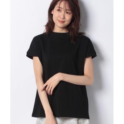 【プレフェリール】 モックネックフレンチTシャツ レディース ブラック 38 PREFERIR