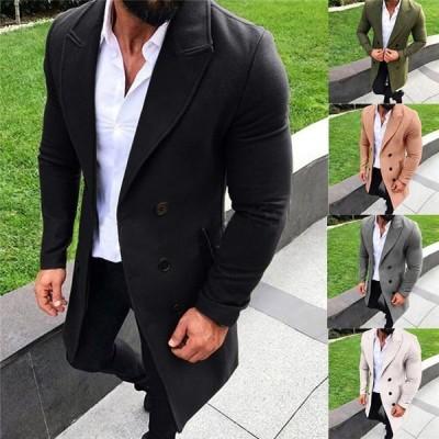 チェスターコート メンズコート ロングコート オシャレ アウター メンズ ジャケット ラシャコート ビジネス 大きいサイズ 細身 通勤 紳士服 秋 5色