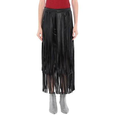 スーベニア SOUVENIR ロングスカート ブラック S ポリエステル 100% ロングスカート