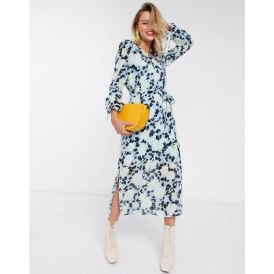 エッセンシャル Essentiel Antwerp レディース ワンピース ミドル丈 ワンピース・ドレス Vekken floral midi dress in blue