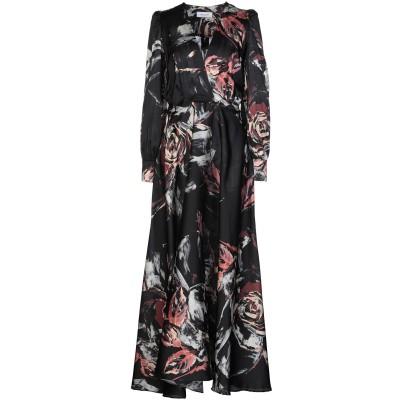 アリーニ AGLINI ロングワンピース&ドレス ブラック 40 シルク 96% / ポリウレタン 4% ロングワンピース&ドレス