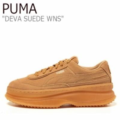 プーマ スニーカー PUMA レディース DEVA SUEDE WNS デヴァ スエード ウイメンズ OATMEAL GOLD 37242308 シューズ