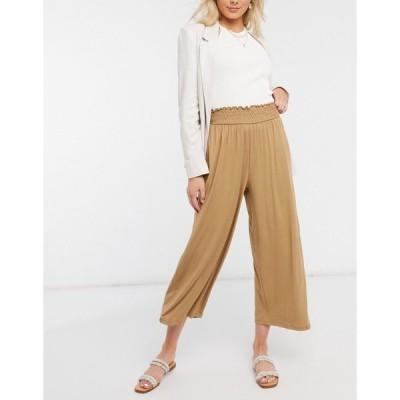 エイソス レディース スカート ボトムス ASOS DESIGN culotte pants with shirred waist in sand Sand