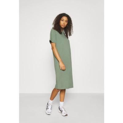 レディース ドレス Basic midi Jerseykleid - Jersey dress - green