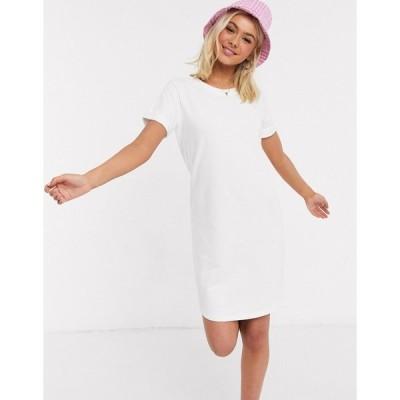 ジェイディーワイ レディース ワンピース トップス JDY sweat t-shirt dress in white White