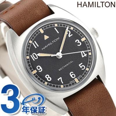 ハミルトン カーキ アビエーション パイロット パイオニア メカニカル 36mm 手巻き 腕時計 メンズ H76419531 HAMILTON ブラック×ブラウン