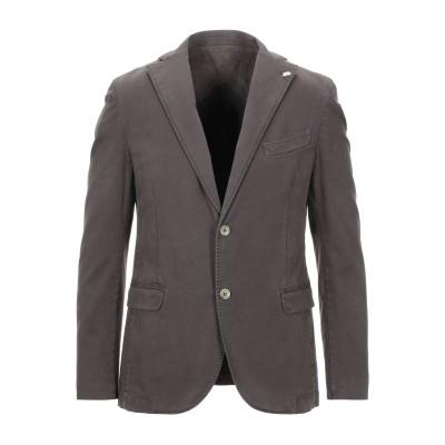 BARBATI テーラードジャケット ダークブラウン 52 コットン 98% / ポリウレタン 2% テーラードジャケット