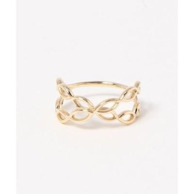 指輪 【K10】パターン・クロスリング