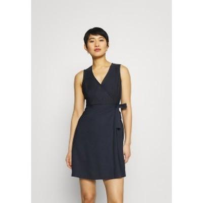 ナフ ナフ レディース ワンピース トップス LAKAWAI - Shift dress - bleu marine bleu marine