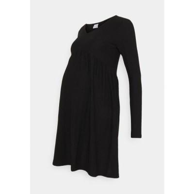 レディース ドレス MLCILLE DRESS SOLID - Day dress - black