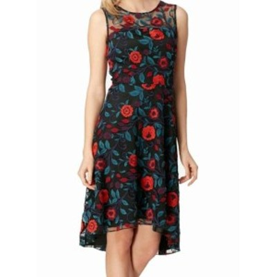 Tahari タハリ ファッション ドレス Tahari By ASL Womens Dress Black Size 6 Shift Embroidered Floral