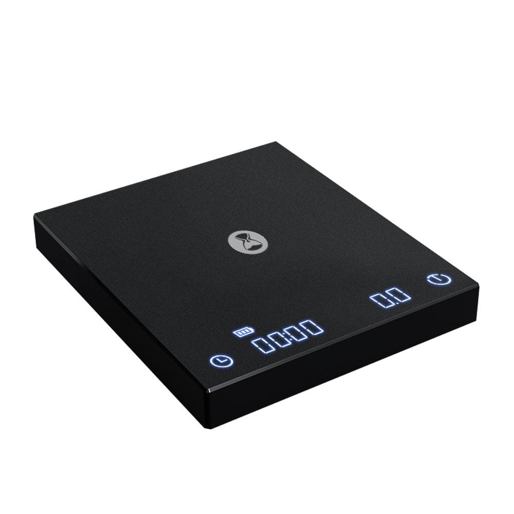 【二代新版】TIMEMORE 泰摩黑鏡BASIC手沖咖啡大師LED觸控秤重計時電子秤 -黑(可USB TYPE-C充電)