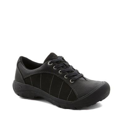 キーン レディース スニーカー シューズ Women's Presidio Leather Nubuck Lace-Up Sneakers Black/Magnet