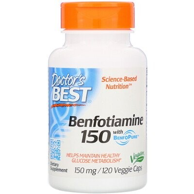 Benfotiamine 150 with BenfoPure, 150 mg, 120 Veggie Caps