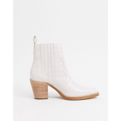 スティーブ マデン Steve Madden レディース ブーツ ウエスタンブーツ シューズ・靴 Genive heeled western boot in bone