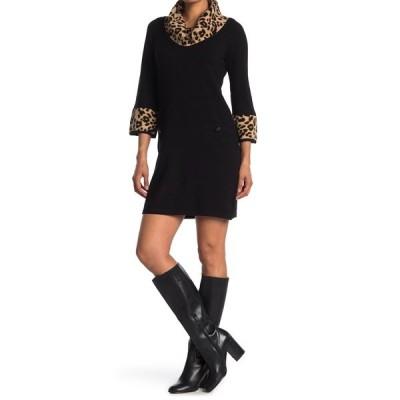 エリザジェイ レディース ワンピース トップス 3/4 Sleeve Two Pocket Sweater Dress BRN
