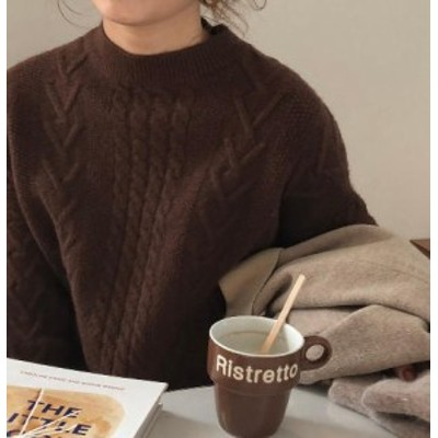 ケーブルニット ニット ケーブル ハイネック レディース ざっくり 長袖 ゆったり ハイネック 秋冬 ゆったり 大人可愛い カジュアル ベー