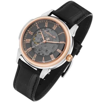 アーンショウ 腕時計 メンズ EARNSHAW 自動巻き アナログ表示 レザー
