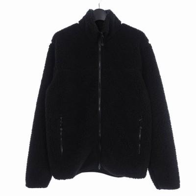 【中古】ステューシー STUSSY ジップアップ フリースジャケット ブルゾン M ブラック 黒 メンズ 【ベクトル 古着】