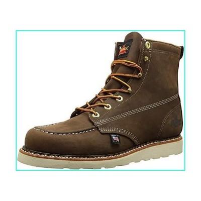 """【新品】Thorogood Men's 814-4203 American Heritage 6"""" Moc Toe, MAXwear Wedge Non-Safety Toe Boot, Trail Crazyhorse - 12 D US Brown(並"""