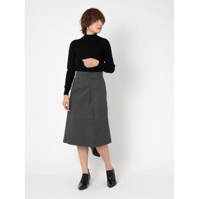 oblekt (オブレクト) レディース ストレッチツイルデザインスカート チャコール F