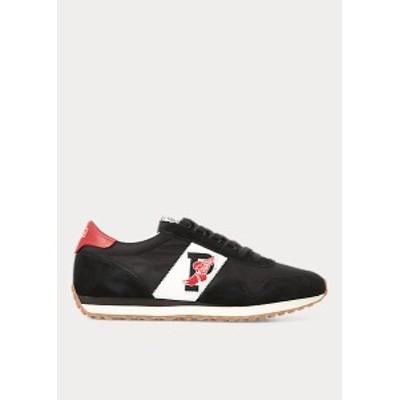 ラルフローレン メンズ スニーカー Polo Ralph Lauren Train 90 Sneaker シューズ Black/Red