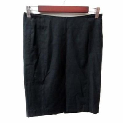 【中古】ブラック バイ マウジー BLACK by moussy タイトスカート ミニ ウール 1 黒 ブラック /YI レディース