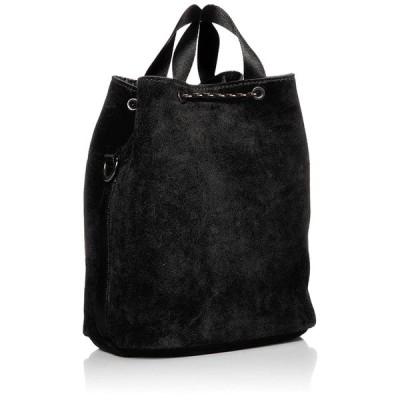アッソブ スエード 巾着バッグ ショルダーバッグ WATER PROOF SUEDE DRAW STRING BAG BLACK
