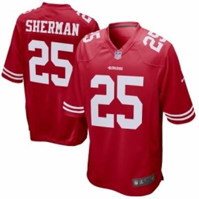 """メンズ ジャージー Richard Sherman """"San Francisco 49ers"""" Nike Game Player Jersey - Scarlet"""