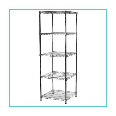 """24"""" d x 24"""" w x 72"""" h Chrome Wire Shelving with 5 Shelves【並行輸入品】"""