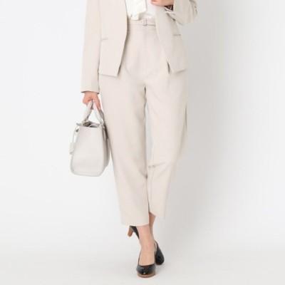 クチュール ブローチ Couture brooch 【ママスーツ/入学式 スーツ/卒業式 スーツ】エマダブルクロス テーパードパンツ (ライトベージュ)